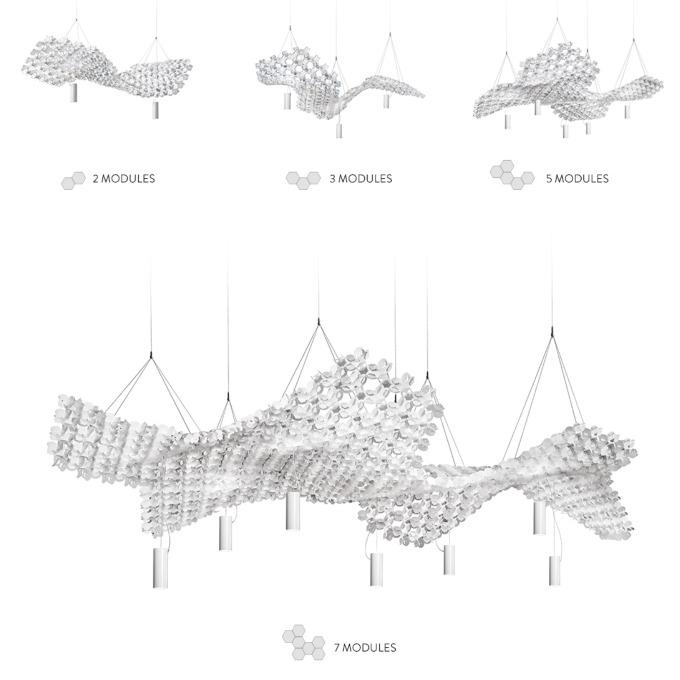 Šviestuvas Slamp – Nuvem Pakabinamas šviestuvas  - 7