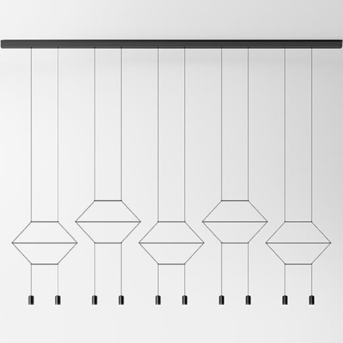 Šviestuvas Vibia – Wireflow Lineal 0330 Pakabinamas šviestuvas  - 1