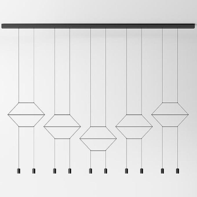 Šviestuvas Vibia – Wireflow Lineal 0332 Pakabinamas šviestuvas  - 1