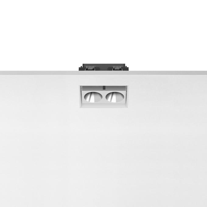 Šviestuvas Flos – Light Shadow Adjustable 2L Baltas/Chrominis Įmontuojamas šviestuvas  - 1